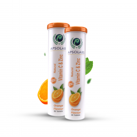 APSOLABS Vitamin C and Zinc pack of 2